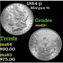 1884-p Morgan Dollar $1 Grades Select+ Unc