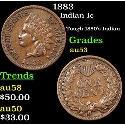 1883 Indian Cent 1c Grades Select AU