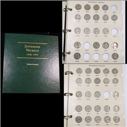 Near Complete Jefferson Nickel book 1915-1938 90 coins . .