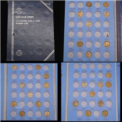 Starter Lincoln cent book 1909-1940 27 coins . .