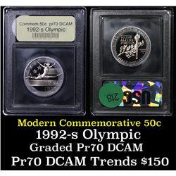 1992-S Olympic Modern Commem Half Dollar 50c Grades GEM++ Proof Deep Cameo
