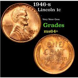 1946-s Lincoln Cent 1c Grades Choice+ Unc
