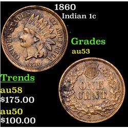 1860 Indian Cent 1c Grades Select AU