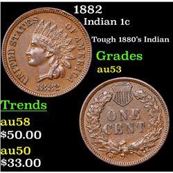 1882 Indian Cent 1c Grades Select AU
