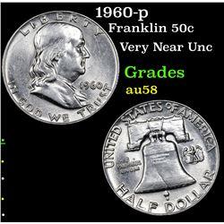 1960-p Franklin Half Dollar 50c Grades Choice AU/BU Slider