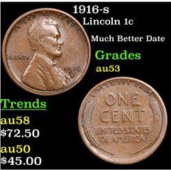 1916-s Lincoln Cent 1c Grades Select AU