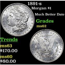 1891-s Morgan Dollar $1 Grades Select Unc