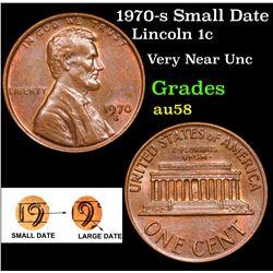 1970-s Small Date Lincoln Cent 1c Grades Choice AU/BU Slider