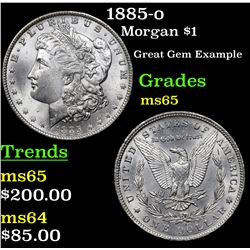 1885-o Morgan Dollar $1 Grades GEM Unc