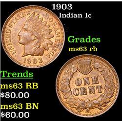 1903 Indian Cent 1c Grades Select Unc RB