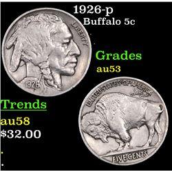 1926-p Buffalo Nickel 5c Grades Select AU