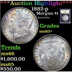***Auction Highlight*** 1882-p Morgan Dollar $1 Graded GEM+ Unc By USCG (fc)