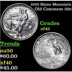 1925 Stone Mountain Old Commem Half Dollar 50c Grades xf+