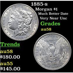 1885-s Morgan Dollar $1 Grades Choice AU/BU Slider