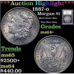 ***Auction Highlight*** 1887-o Morgan Dollar $1 Graded Choice+ Unc By USCG (fc)