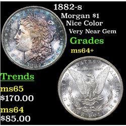 1882-s Morgan Dollar $1 Grades Choice+ Unc