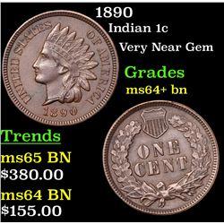 1890 Indian Cent 1c Grades Choice+ Unc BN