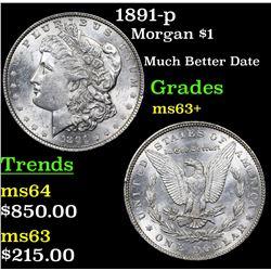 1891-p Morgan Dollar $1 Grades Select+ Unc