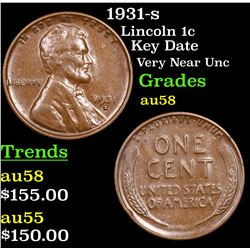 1931-s Lincoln Cent 1c Grades Choice AU/BU Slider