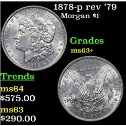 1878-p rev '79 Morgan Dollar $1 Grades Select+ Unc