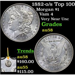 1882-o/s Top 100 Morgan Dollar $1 Grades Choice AU/BU Slider