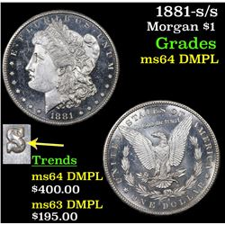 1881-s/s Morgan Dollar $1 Grades Choice Unc DMPL