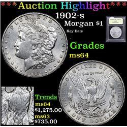 ***Auction Highlight*** 1902-s Morgan Dollar $1 Graded Choice Unc By USCG (fc)