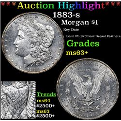 ***Auction Highlight*** 1883-s Morgan Dollar $1 Grades Select+ Unc (fc)