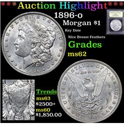 ***Auction Highlight*** 1896-o Morgan Dollar $1 Graded Select Unc By USCG (fc)