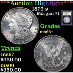 ***Auction Highlight*** 1879-s Morgan Dollar $1 Graded GEM++ Unc By USCG (fc)