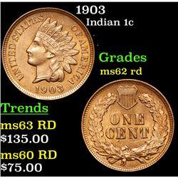 1903 Indian Cent 1c Grades Select Unc RD