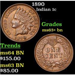 1890 Indian Cent 1c Grades Select+ Unc BN