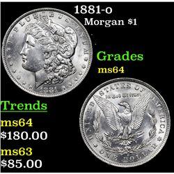 1881-o Morgan Dollar $1 Grades Choice Unc