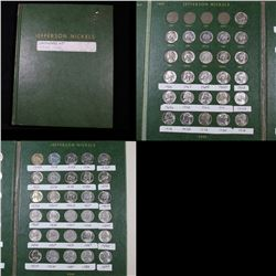 Starter Jefferson Nickel book 1960-1989 56 coins . .