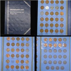 Partial Lincoln cent book 1941-1968 66 coins