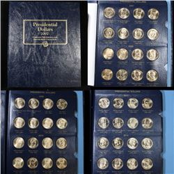 Partial Presidential Dollar book 2007-2012  48 coins