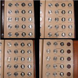 Near Complete Washington Statehood Commemorative Quarters book 2004-2007 75 coins . Grades