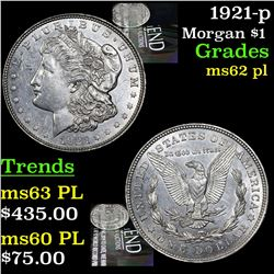 1921-p Morgan Dollar $1 Grades Select Unc PL