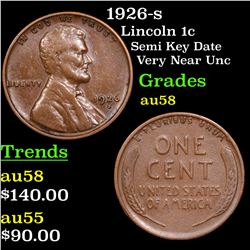 1926-s Lincoln Cent 1c Grades Choice AU/BU Slider