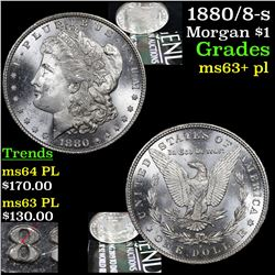 1880/8-s Morgan Dollar $1 Grades Select Unc+ PL