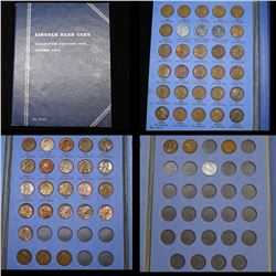 Partial Lincoln cent book 1941-1958 58 coins . .