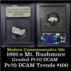 1991-s Mount Rushmore Modern Commem Half Dollar 50c Grades GEM++ Proof Deep Cameo