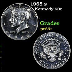 1968-s Kennedy Half Dollar 50c Grades GEM+ Proof