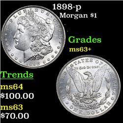 1898-p Morgan Dollar $1 Grades Select+ Unc