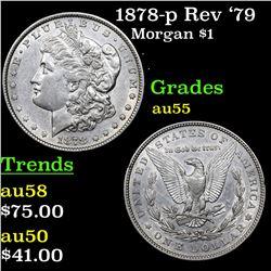 1878-p Rev '79 Morgan Dollar $1 Grades Choice AU