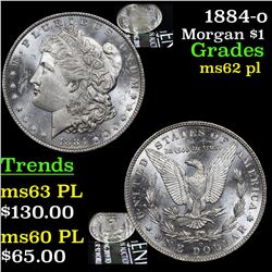 1884-o Morgan Dollar $1 Grades Select Unc PL