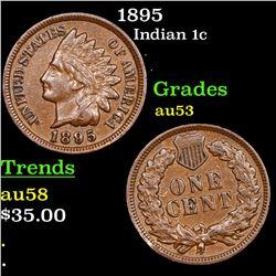 1895 Indian Cent 1c Grades Select AU