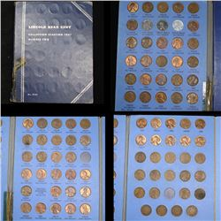 Near complete Lincoln cent book 1941-1969 86 coins