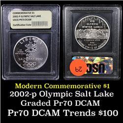 2002-p Olympic Salt Lake Modern Commem Dollar $1 Grades GEM++ Proof Deep Cameo