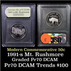 1991-s Mount Rushmore Modern Commem Half Dollar 50c Grades GEM++ Proof Deep Cameo